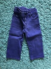 Gap Baby Boy Pull on Straight Knit Jeans - Size 12-18 months Royal Blue
