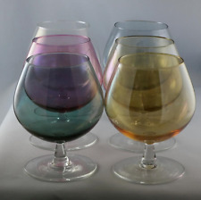 Venetian crystal glass stemware goblets - set of 6