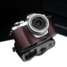 GARIZ Leather Case for Olympus EM10II E-M10 II XS-CHEM10IIBR Brown