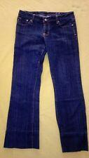 Seven Premium Brand sz 30 women's bluejeans with rhinstones on back pockets (36)