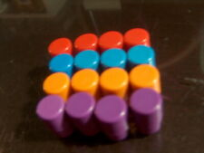 Trouble game Pop Up replacement pegs blue orange purple and red 814b