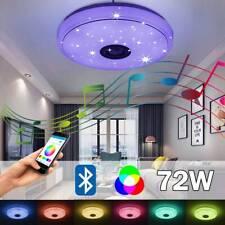 72W Dimmbar LED Deckenleuchte Deckenlampe bluetooth Lautsprecher APP Steuerung