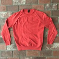 J. Crew Slim Men's Size Large Red Crew neck Sweater Shirt