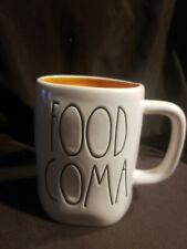 "New Rae Dunn by Magenta L/L ""FOOD COMA""  Coffee Mug Orange Interior VHTF Rare"