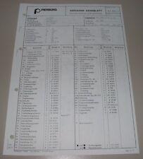 Pierburg Vergaser 35 PDSIT Kennblatt Ersatzteilliste VW LKW LT 28 31 35 ab 6/76!