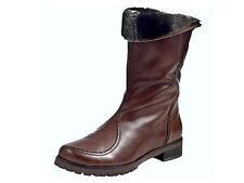 Damenschuhe im Wadenhohe Stiefel-Stil mit Echtleder und Reißverschluss für Kleiner Absatz (Kleiner als 3 cm)
