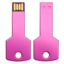 32GB USB 2.0 Pink Flash Drive Metal Llave Shape Pen Drive Card Memoria Palo OTG