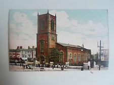 Vintage Retro Old Colour Postcard ~ Parish Church Stockton-On-Tees Franked 1907