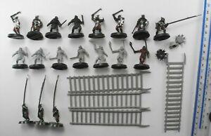 18 URUK HAI +4 SIEGE LADDERS Plastic Lord of the Rings Evil Army Warhammer 6