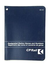 1979 CP Rail Canadian Pacific Designated Station Name Numbers Booklet Guide J937