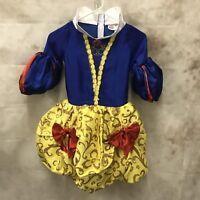 Disney Princess Snow White Dress Halloween Costume M 7/8 Gathered Skirt Style