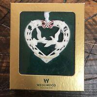 Wedgwood Our First Christmas 2000 Heart Birds Christmas Ornament