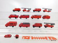 CA497-1# 13x Wiking 1:87/H0 FW-/Feuerwehr-Modell: VW + Opel + MB, 2. Wahl