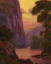 Oil Painting Vintage Impressionist Original Landscape Western Art MAX COLE