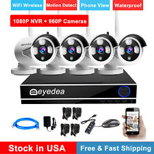 Eyedea WiFi 4 Ch 1080P Nvr 960P Night Vision Outdoor Cctv Security Camera System
