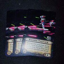 Star Wars X-Wing Miniature Game Swarm Tactics x3 Promo Card