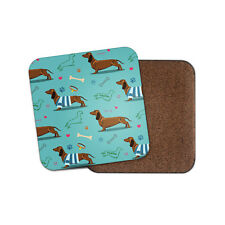 Blue Dachshund Coaster - Cute Dog Puppy Pet Animal Hound Cool Fun Gift #14806
