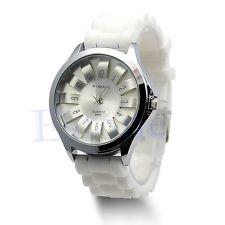 Unisex Men Women Hot Stylish Silicone Quartz Sport Geneva Jelly Wrist Watch