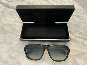 Givenchy oversized square-frame tortoiseshell sunglasses pre-owned well worn