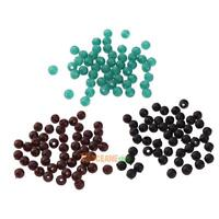 6mm Carp Fishing Lure Black Green Coffee Round Floating Rig Beads Tackles 50pcs