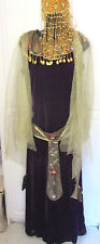 EGYPTIAN CLEOPATRA HALLOWEEN DRESS & HEADPIECE~Women's Large / XL
