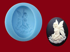 Fairy Cameo Mould Silicone, Cake Toppers, Sugarcraft, Jewellery, Food Safe