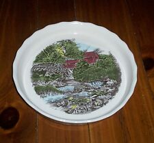 Johnson Brothers THE FRIENDLY VILLAGE Pie Dish Plate NWT