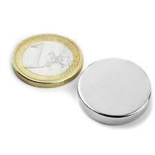 Super Magnete Disco al Neodimio dimens. 25 x 5 mm Potenza 8,8 Kg. Magnetoterapia