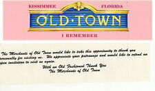 Souvenir of Old Town located in Kissimmee Florida Bumpersticker  I Remember