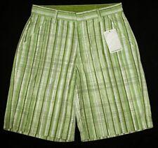 "Bnwt Authentic Men's Oakley Striped Shorts W32"" New Green"