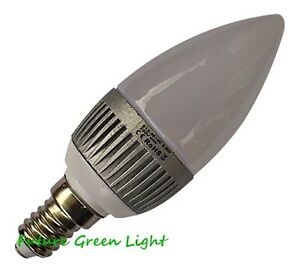 E14 SES CANDLE 12 SMD LED 240V 3.5W 215LM DIMMABLE WHITE BULB ~40W