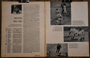 1959 Boston Red Sox Baseball Magazine Insert Two Page Print Williams Sisler Wall