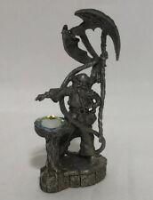 "Rare 1988 Gallo Pewter Dragon Caster Enchantress w/dragon 4"" tall"
