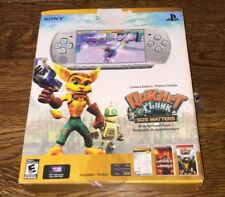 PSP 3001 PlayStation Portable Limited Edition Ratchet Clank Silver Box Accessory
