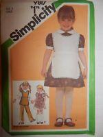 Simplicity 9817 Dress Tabard Pull on Pants Size 3 Sewing Pattern Child UC FF