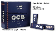 OCB Ultimate 1 1/4 --- 50 libritos de papel de liar. Nuevo. Superfino 10grs.m2-