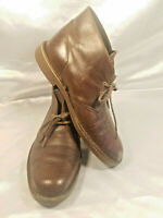 CLARKS Shoes Mens size 10M US Brown Leather Lace up Ankle Desert Chukka Boots
