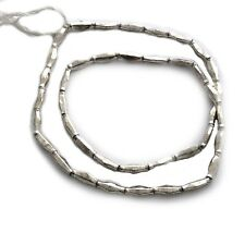 """Silver Plated  Beads Tube Spacers Strand Tribal Ethnic Naga Necklace 24"""" BSS03"""
