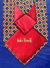 "Superb ITALO FERRETTI ""Geometric"" Silk Tie H.M. I. Italy"