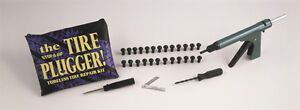 Stop&Go Workshop Tyre Plugger Kit with Tool & 25 Mushroom Headed Rubber Plugs