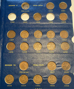 1920-68 CANADA One Cent 48 Different Dates & Whitman Album w/1923, 1924 & 1926