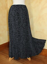 Briggs New York Art-to-Wear Funky A-Line Slinky Travel Animal Print Skirt Sz L