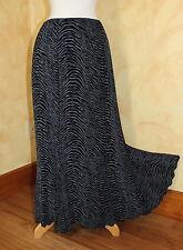 Briggs New York Art-to-Wear Funky A-Line Slinky Travel Animal Print Skirt Sz L