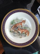 Lenox Red Foxes Woodland Series By Boehm China Plate