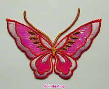 Applikationen zum Aufbügeln - Schmetterling - Pink  Aufnäher Neu