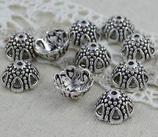 10 Perlenkappen, Antik Silber  12x7 mm Perlen Kappen