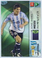 Lionel MESSI Panini Goaaal ! Soccer card Rookie # 106 Small Indentation On Top
