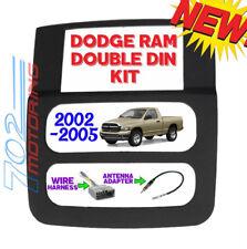 02-05 DODGE RAM CAR STEREO DOUBLE DIN INSTALLATION DASH KIT VIDEO NAVIGATION