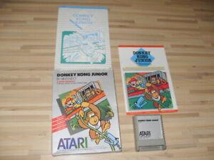 Vintage Atari 8-bit 400/800/XL/XE Donkey Kong Junior Cartridge Tested Xegs JR
