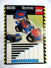 Notice LEGO technic de 1986 Manuel d'instructions montage réf : 8035
